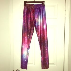 Pants - NWT RedExtend Yoga Pants w/Colorful Galaxy Print